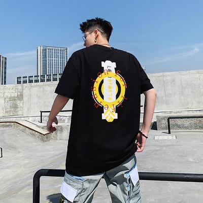 夏季新款 ins 国潮 嘻哈 字母印花短袖圆领T恤男有版权 5506 P35
