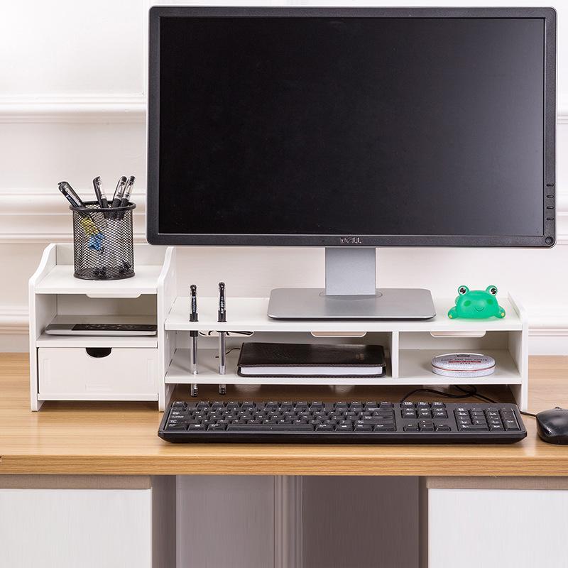 电脑显示器增高架子底座办公室用品桌面收纳盒台式抽屉屏置物支架