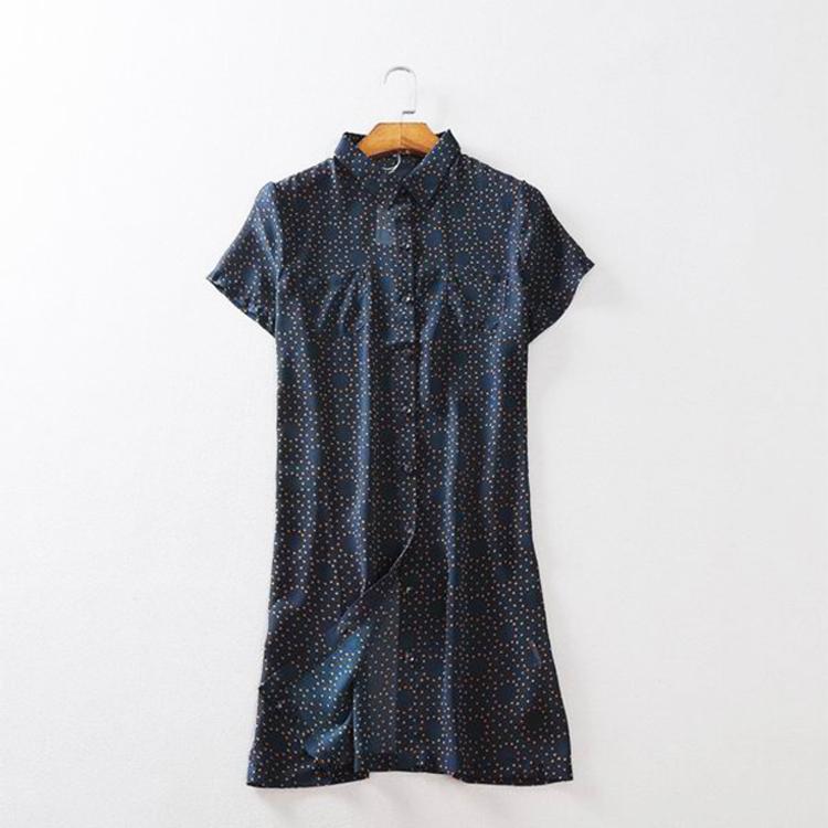 夏季宽松百搭圆点中长短袖雪纺衬衫透视防晒空调衫休闲女装衬衣潮
