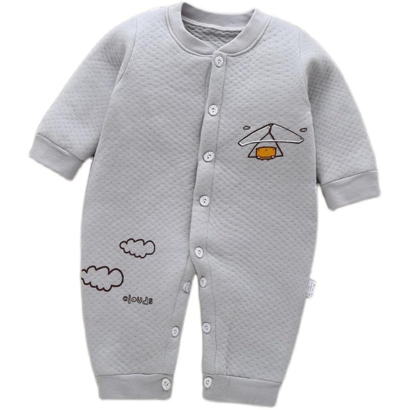 婴儿连体衣夏春季男女宝宝加厚保暖哈衣0-1岁秋装纯棉新生儿衣服