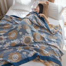 欧美夏季竹棉毛巾被四层纱布被子大人薄款单人盖毯双人被冰丝毯