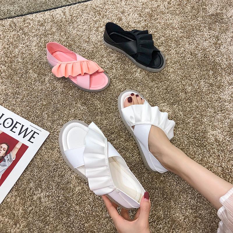 配的凉鞋女2019新款百搭平底潮裙子需要用券