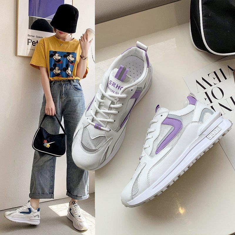 老爹鞋女ins潮2021年夏季新款流行女鞋网面透气厚底运动休闲鞋子