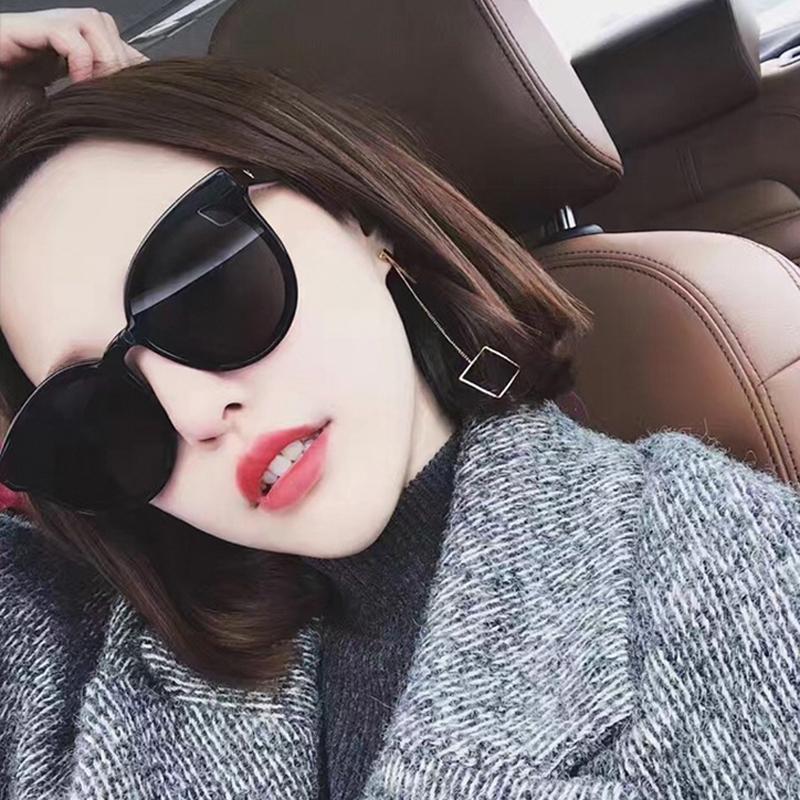 2020 new womens glasses Korean blue sea GM mens Sunglasses net red star same round face Sunglasses