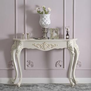 欧式玄关桌子玄关柜时尚玄关台靠墙桌半圆玄关台装饰桌简约门厅柜