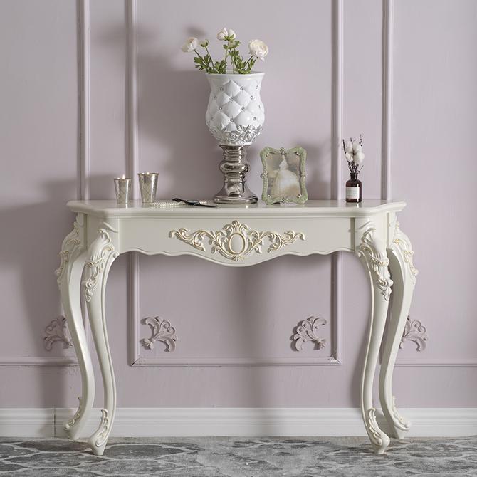 玄关桌子玄关柜流行靠墙桌子半圆玄关台装 饰桌简约门厅柜设计 欧式