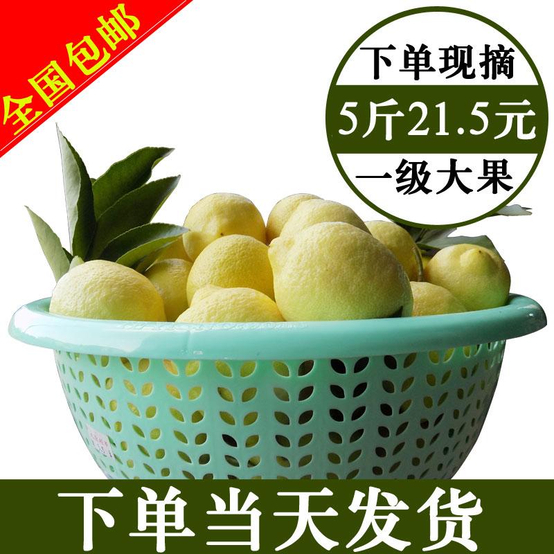 11-08新券安岳一级黄柠檬大果5斤皮薄香柠檬