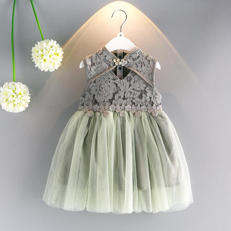女童周岁旗袍公主裙冬款长袖连衣裙加绒加厚4纱裙3唐装蓬蓬裙2岁