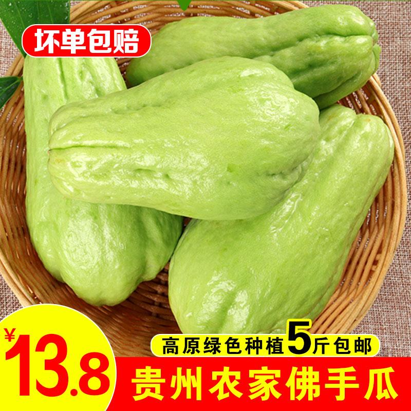 新鲜佛手瓜5斤装 洋瓜捧瓜丰收窝瓜寿瓜农家蔬菜农家新鲜现摘现发