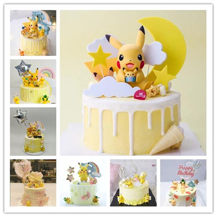 新款仿真蛋糕模型店展示道具样品假蛋糕模型皮卡丘卡通儿童假蛋糕
