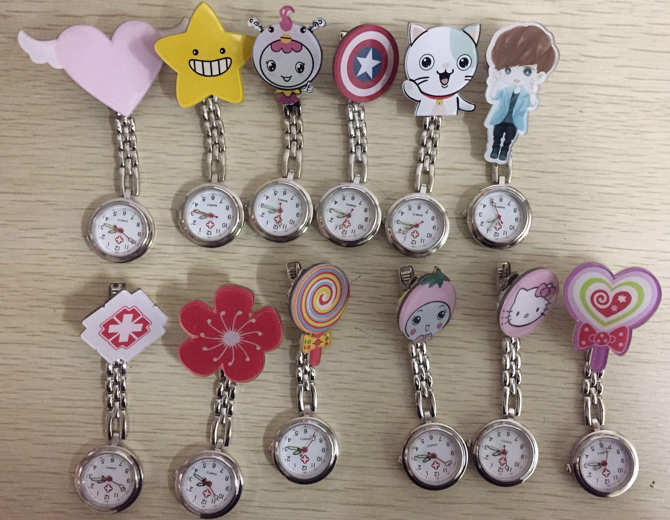 韩版手表女复古怀表女卡通时尚学院派护士表挂表医用女款可爱胸表