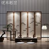 中式实木半透折叠屏风隔断客厅玄关书房简约现代屏风【徽派建筑】