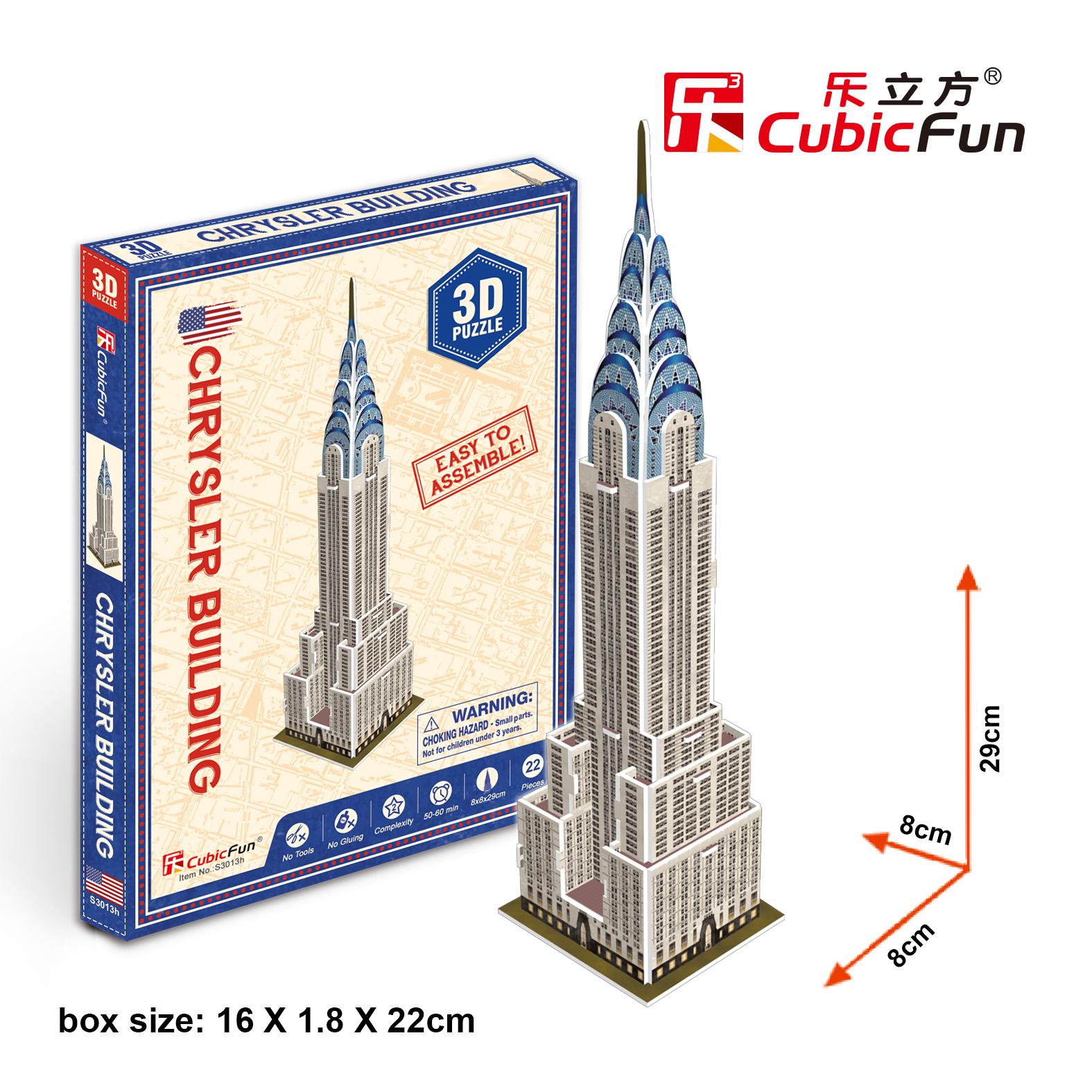 Le Cube 3D Stereo Puzzle Creative Gift S3013H Mini Empire State Building Model