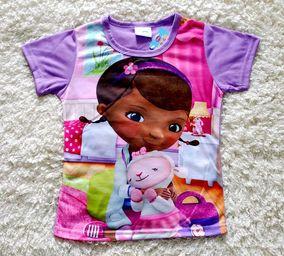 外贸童装玩具小医生女童中大童t恤