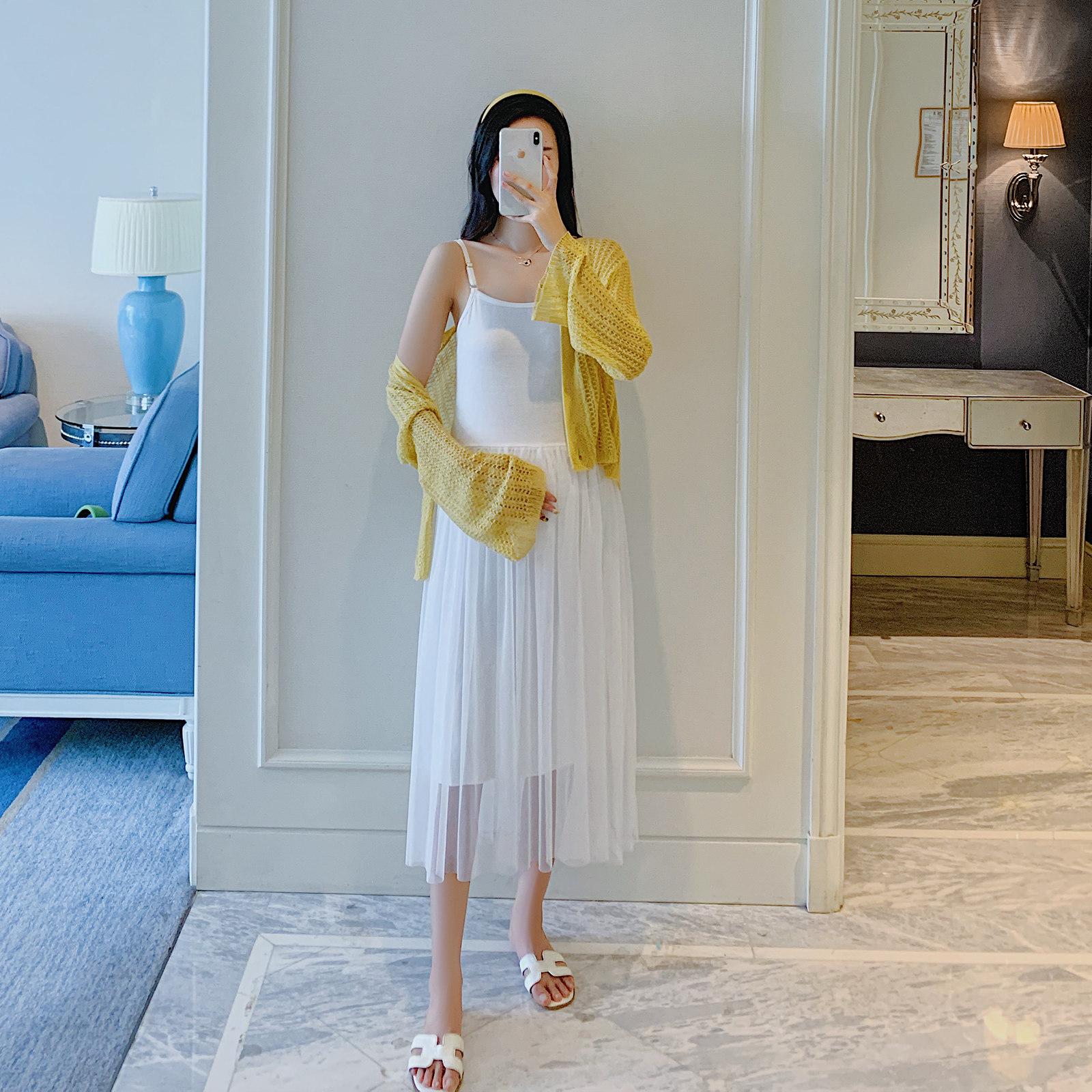 孕妇外套夏季薄款外穿开衫慵懒气质镂空外搭宽松孕妇装夏装上衣图片