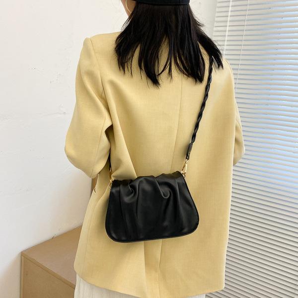 RS9178#新潮流行时尚仙女褶皱腋下包单肩包小众设计云朵包包女