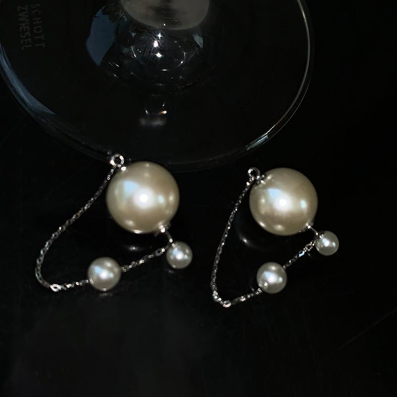 BOONEE◆2020新款简约百搭大小珍珠两用气质耳钉 高级感耳环女潮