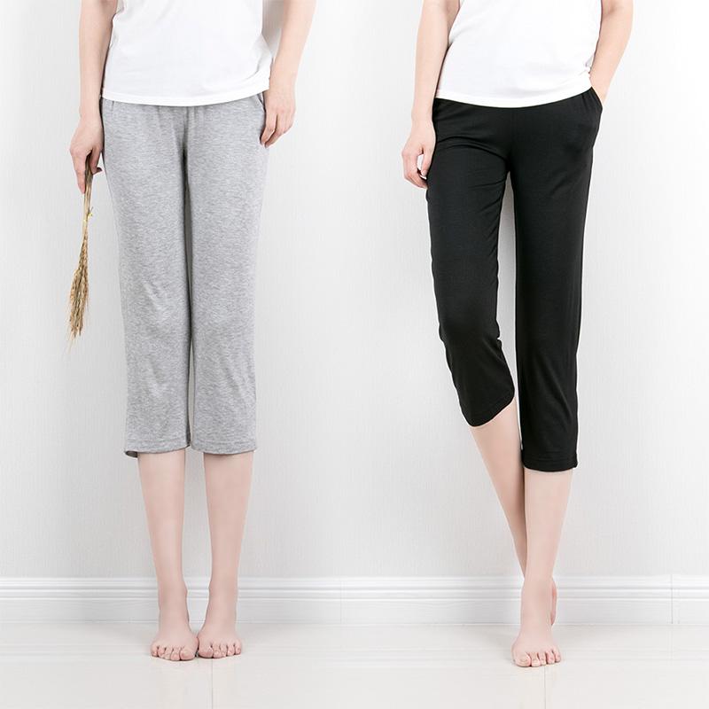 Clearance thin womens seven point pants and half pants modal casual home pants pajamas Yoga Pants loose air conditioning pants