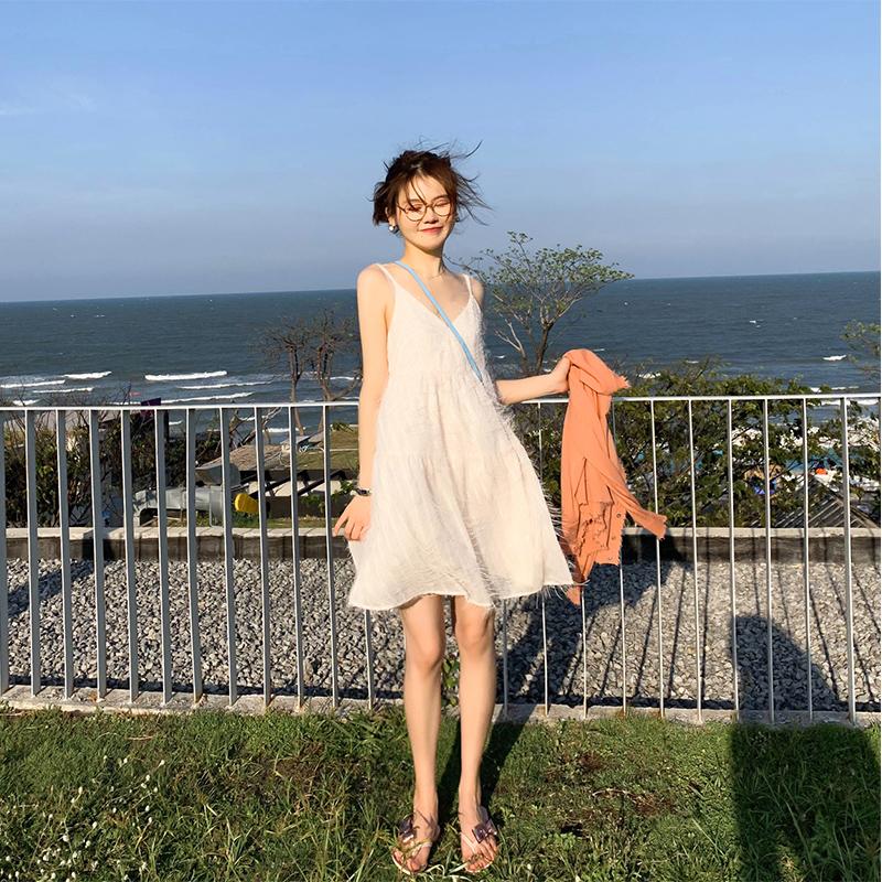 泰国海边渡假旅游小个子显高沙滩裙满68元可用3元优惠券
