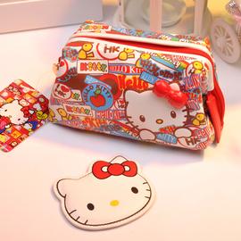 凯蒂猫化妆包女网红ins风便携可爱日系韩国卡通动漫化妆品收纳包
