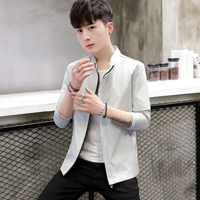 外套男夹克上衣2020春季新款韩版潮帅气休闲长袖褂子男JK522-P30