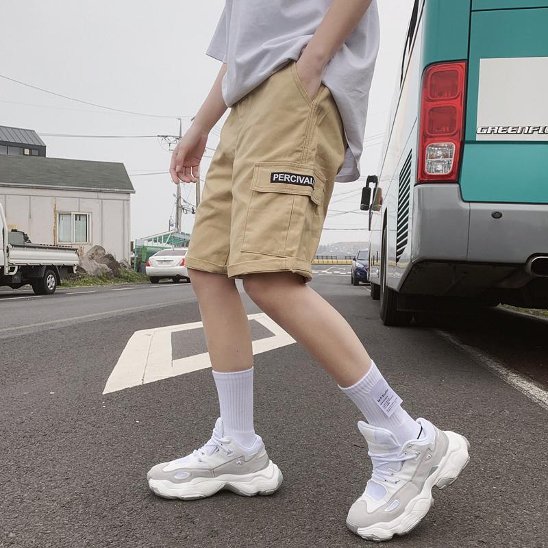 工装短裤子男士潮牌短款5五分裤中学生沙滩中裤夏季薄款S501-P32
