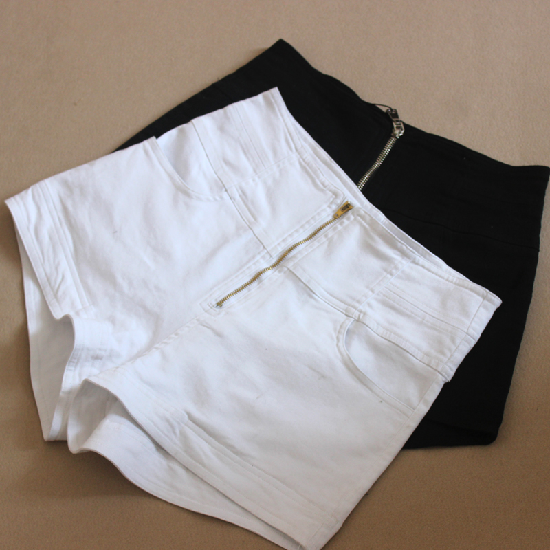 2020 spring and summer high waist white shorts slim stretch cotton wide leg pants underpants wear micro elastic