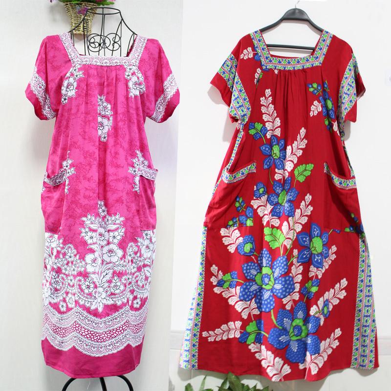 夏の新作インドネシアの輸入婦人服の中に、長めの半袖のスリムなワンピースの方が、ゆったりとしたスリーピングスカートがあります。