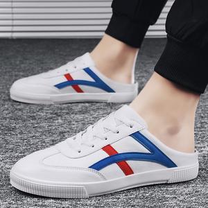 高档板鞋男夏季百搭男鞋韩版潮流小白鞋休闲鞋2020新款懒人鞋子男