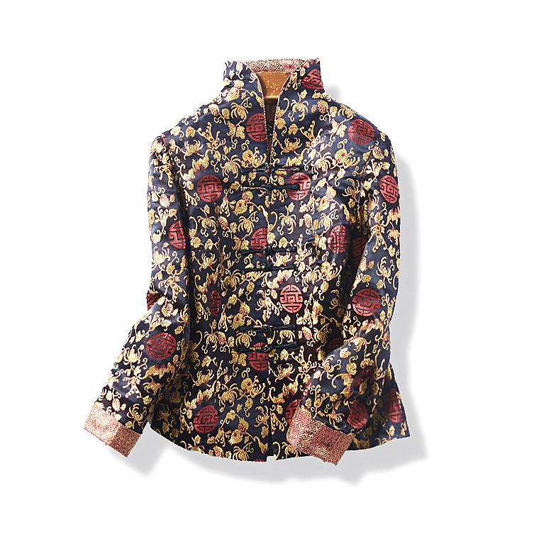 13178 春秋款新品中老年女装中国风复古薄外套修身盘扣唐装11月24