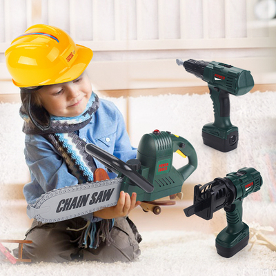 Electric 5 disassembly and assembly electric drill screw assembly toolbox package 7 engineer boy puzzle children play house toy