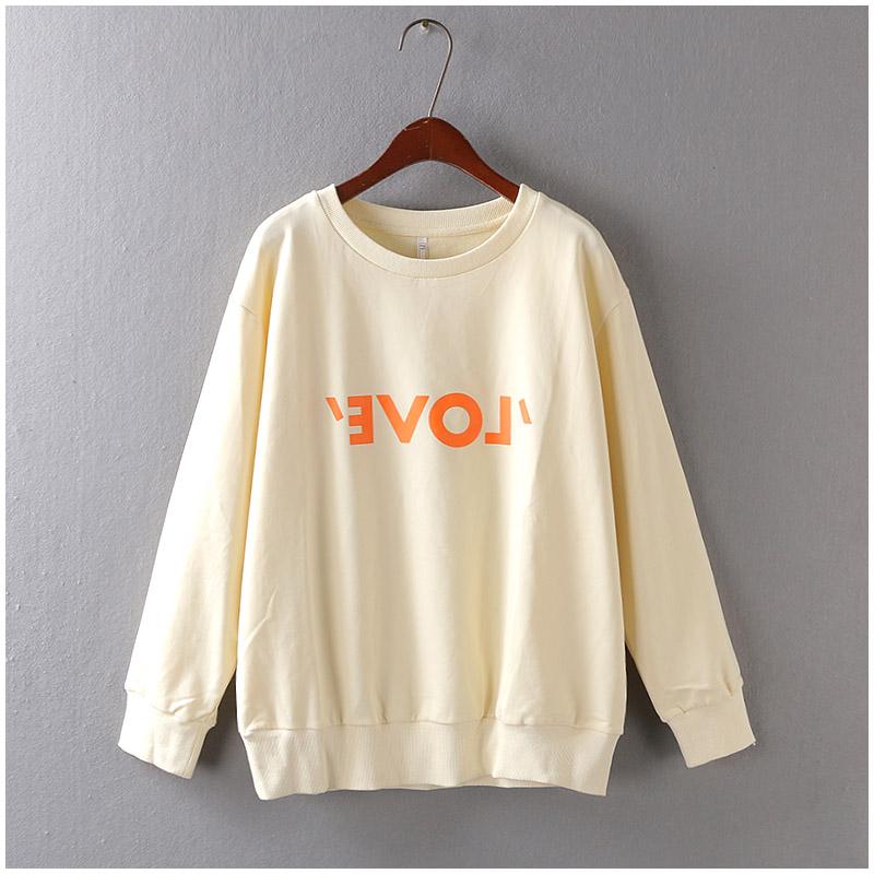 Корея L + L осень/зима серии внутренних досуг спортивный свитер пиджак длинный рукав t свободные женщины F43-3002-4