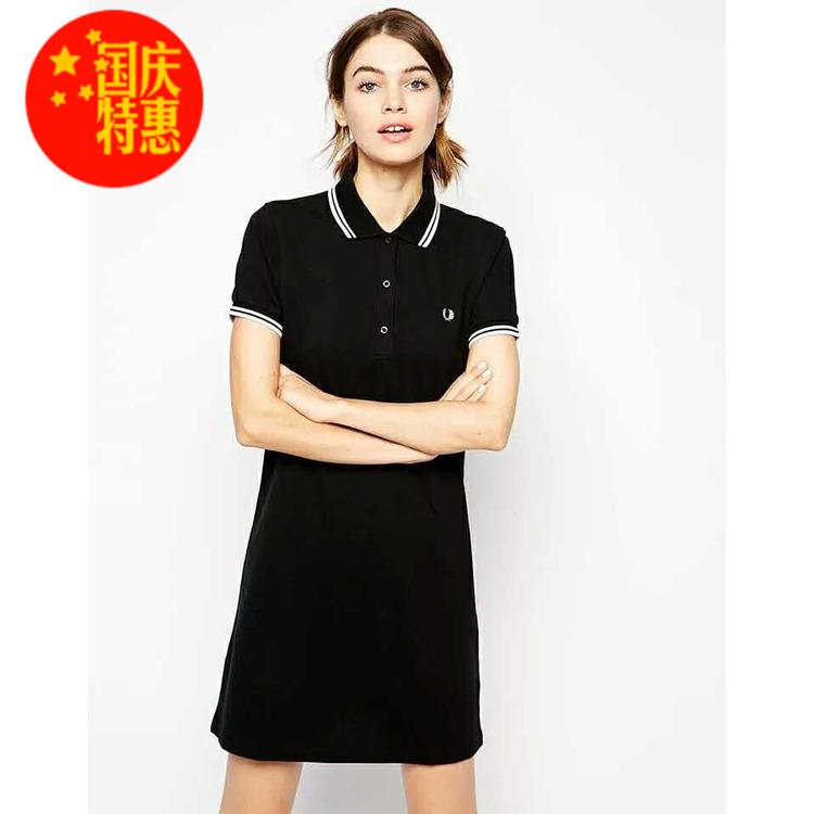 11-07新券夏季fp麦穗polo短袖修身显瘦连衣裙