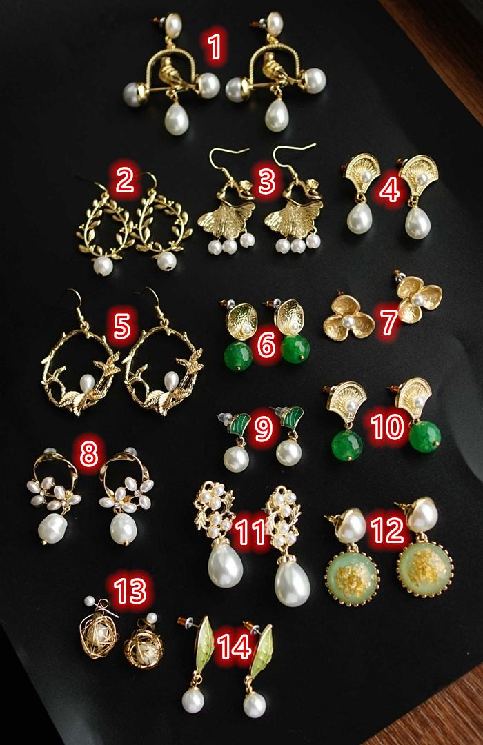 珍珠系列女生耳钉耳环耳坠耳饰集合套装 女生饰品 新品