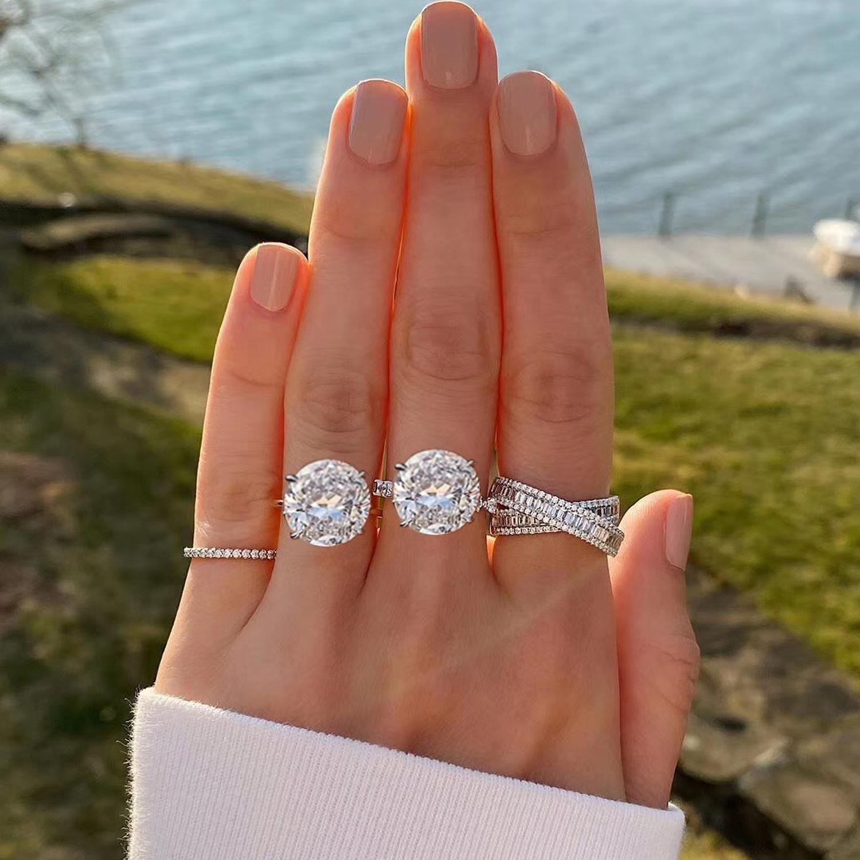 黄小仙50分钻戒正品GIA裸钻求婚结婚戒指定制1克拉钻石戒指女真钻
