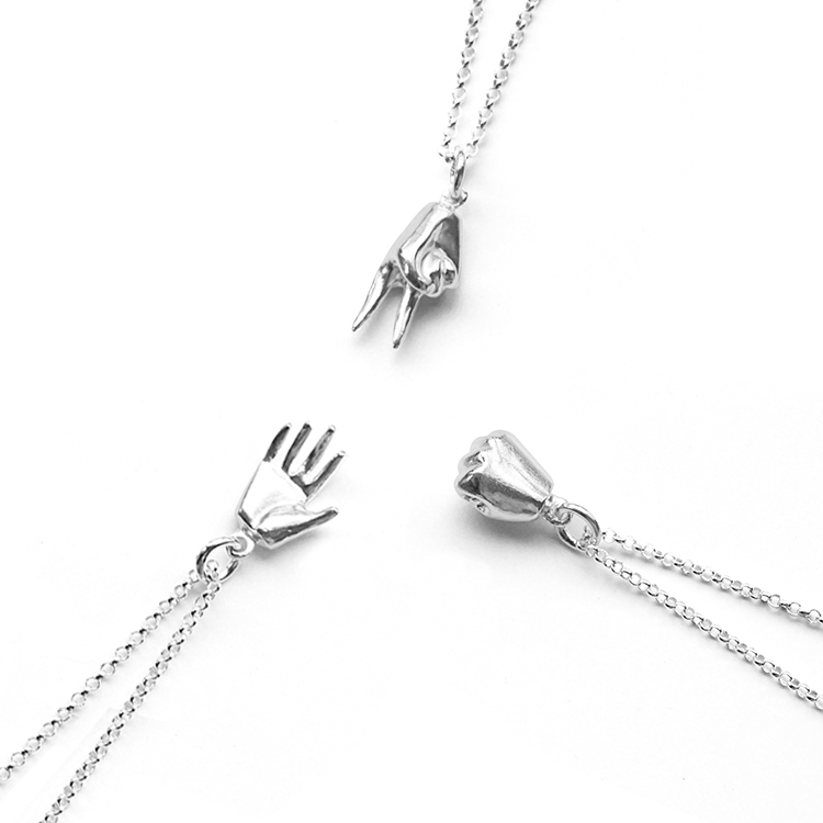 Best friend necklace for two and three young ladies birthday present Necklace 2020 new womens Sterling Silver 999