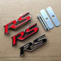汽车中网改装装饰标 3D立体RS中网标改装专用运动标金属车标