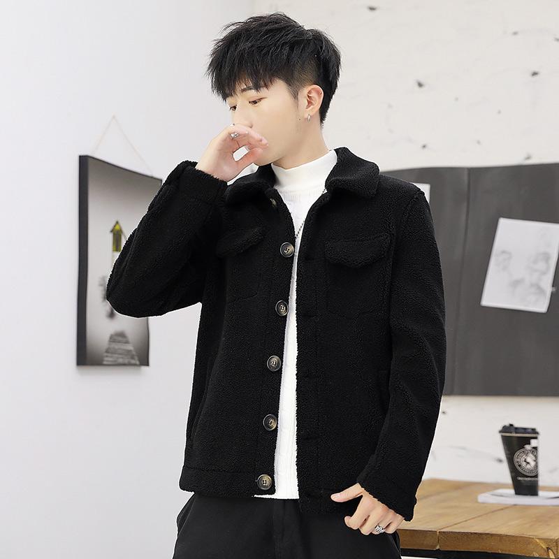 新款秋冬男外套 单排扣短款颗粒绒男夹克外套 607 F01 P110