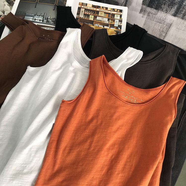 限80000张券舒适透气竹节棉工字女夏韩版打底衫