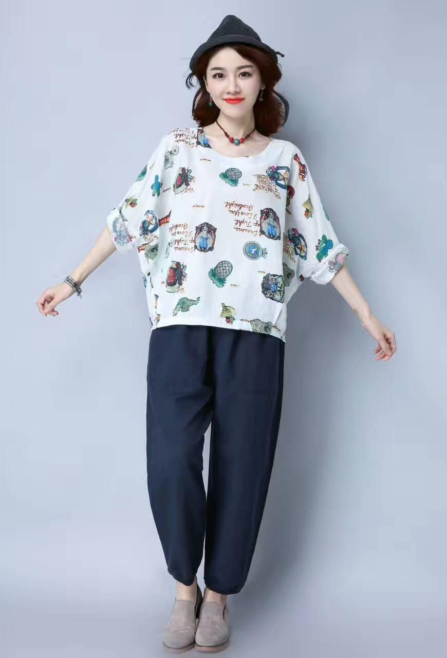 2017年新款套装时尚精致女上衣高雅女式轻柔凉快套裤漂亮女装衣裤