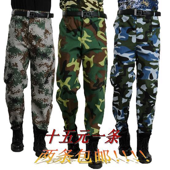 На открытом воздухе армия фанатов военная форма камуфляж брюки студент армия поезд мужской и женщины джунгли свободный пригодный для носки сделать поезд труд страхование работа одежда брюки