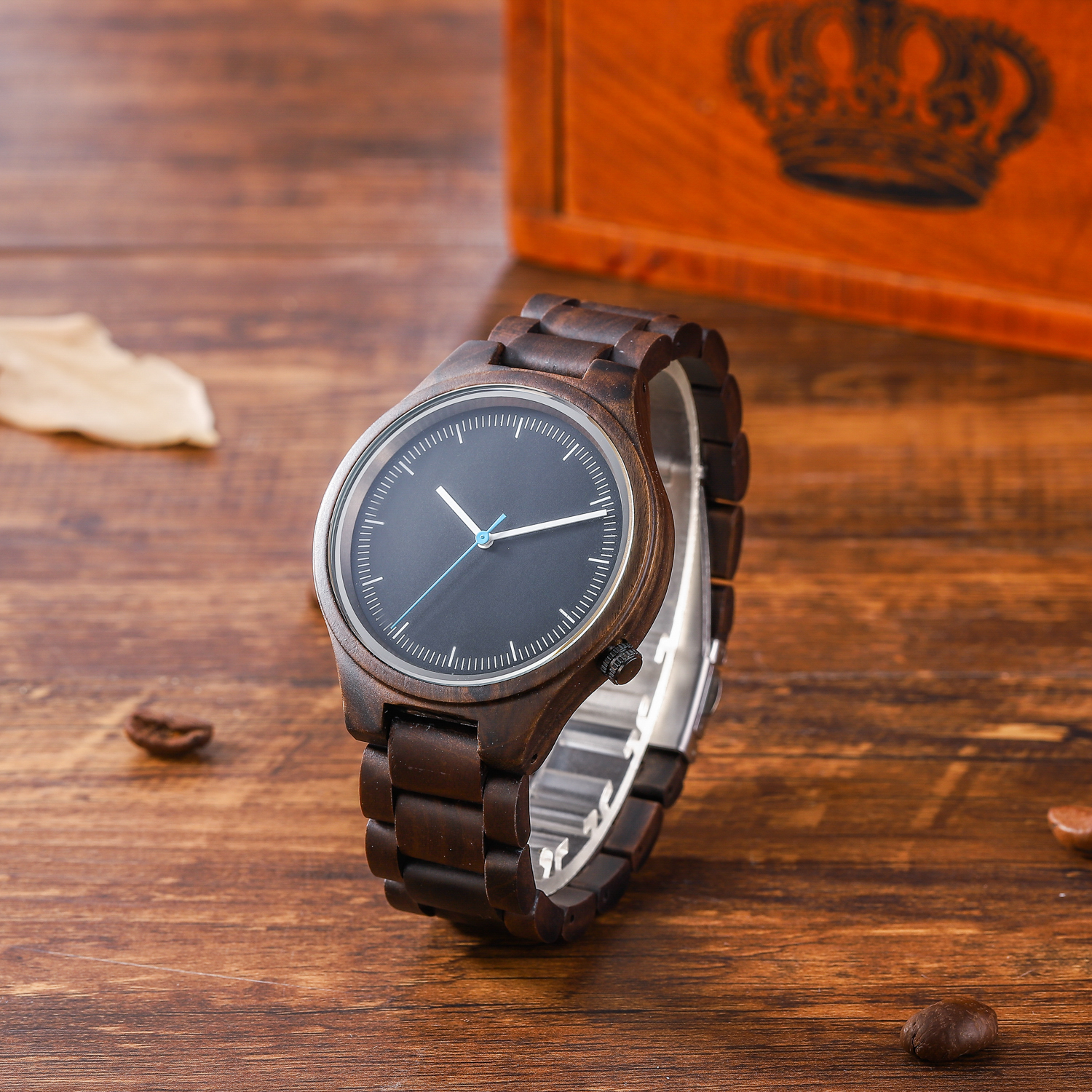 Mens ebony watch high quality popular watch watch foreign trade boutique watch Japanese movement quartz watch wooden Watch