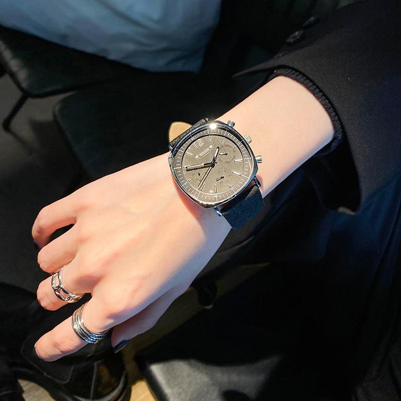 聚利时手表女霸气ins风学生ins小众设计日韩2021年新款十大品牌