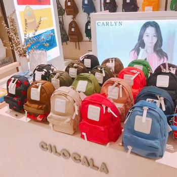 日本cilocala双肩包学生书包斜跨mini电脑包外出旅行男女彩虹背包