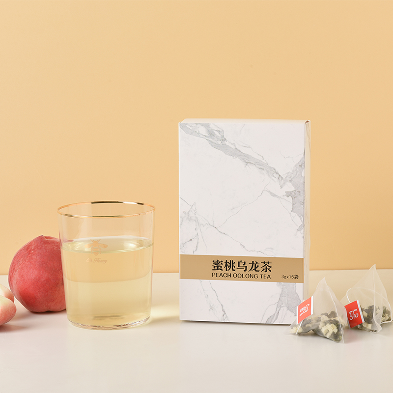 «LANDY WANG» Чай Peach Oolong белый Peach Oolong Peach Oolong Холодный чай Camellia Fruit Tea Triangle