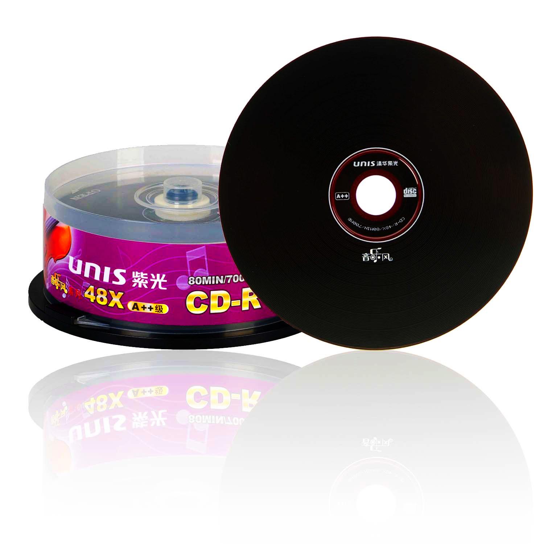 清华紫光光盘黑胶盘CD音乐风纯音轨音乐CD-R刻录盘CD无损光盘光碟