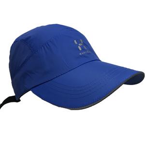 清仓超簿速干 防水透气帽女 夏秋季蓝色鸭舌帽 夜光反光跑步帽子
