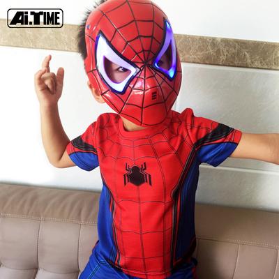 蜘蛛侠衣服儿童男孩童装男童套装夏季短袖短裤休闲服儿童节演出服