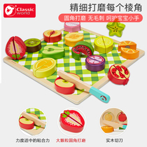 Can come to cut fruit childrens toy vegetables cut music large combination set men and girls wooden kitchen toys