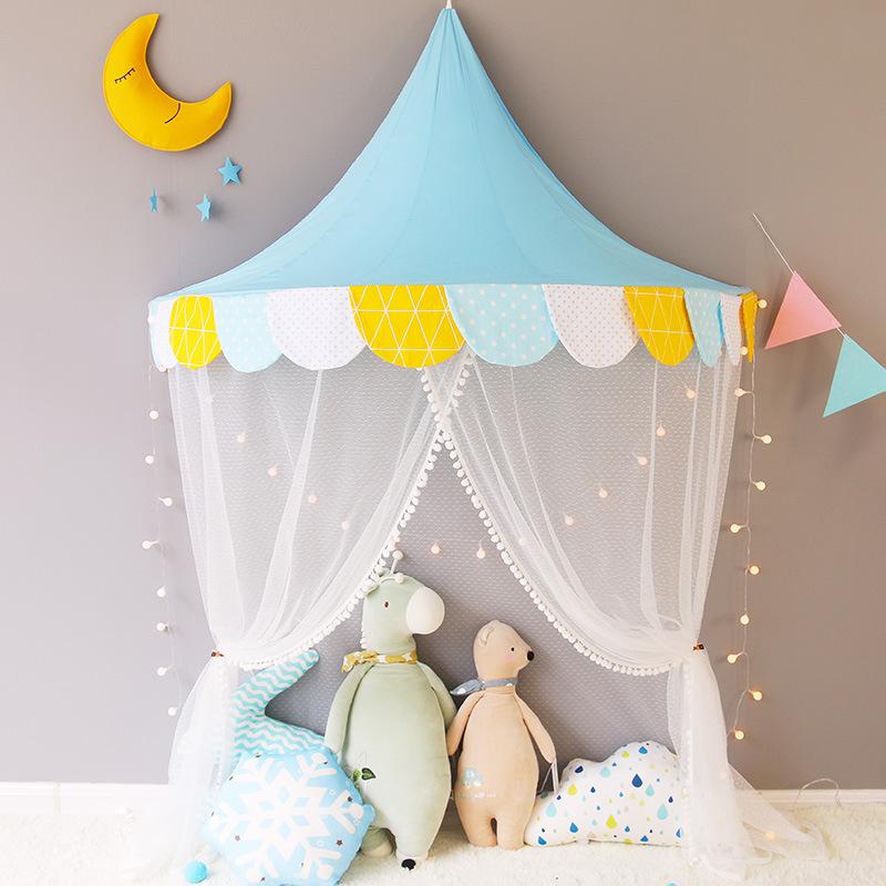 儿童床上帐篷读书阅读角布置公主房女孩室内男孩宝宝半月游戏小屋热销36件限时2件3折
